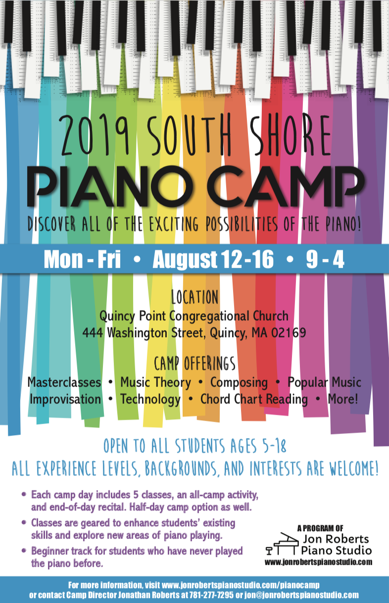 South Shore Piano Camp | August 12-16, 2019 | Ages 5-18